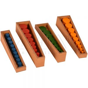 Knobless Cylinders | Geometrical Solids | Montessori Math Materials | Preschool Educational Toys | Kidken Edu Solutions