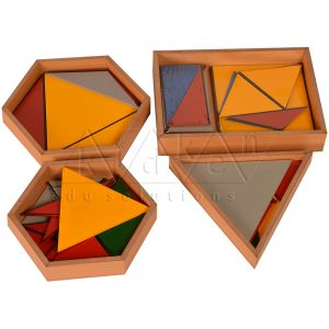Constructive Triangles | Montessori Math Materials | Preschool Educational Toys | Kidken Edu Solutions