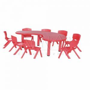 F042--R-Bean-table---Red-Colour