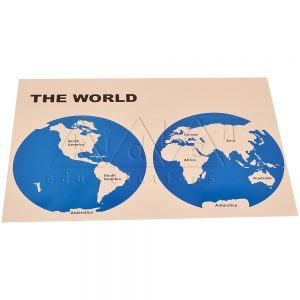 World Map Labelled | Montessori Learning Aids | Kidken Edu Solutions
