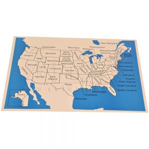USA Map Labelled | Montessori Learning Aids | Kidken Edu Solutions