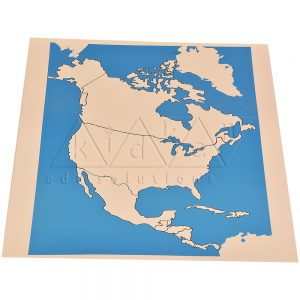 North America Map Unlabelled | Montessori Learning Aids | Kidken Edu Solutions