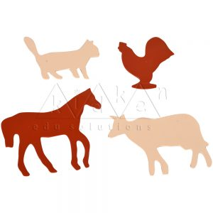 Domestic Animal Stencils Puzzle | Montessori Puzzles | Preschool Educational Toys | Kidken Edu Solutions