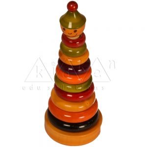 Coloured Rings Joker | Wooden Toys Online | Kidken Edu Solutions