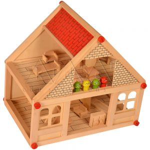 Small Doll House | Wooden Teaching Aids | Play School Materials | Kidken Edu Solutions