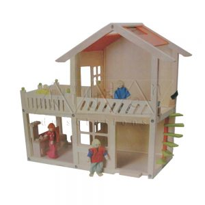 Big Doll House | Wooden Teaching Aids | Play School Materials | Kidken Edu Solutions