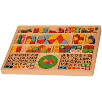 Alphabets Threading Beads | Educational wooden toys | Kidken Edu Solutions