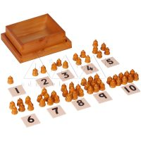 Cards and Counters | Montessori Math Materials | Preschool Educational Toys | Kidken Edu Solutions
