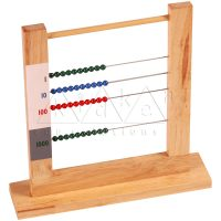 4 Row Bead Frame | Montessori Math Materials | Kidken Edu Solutions