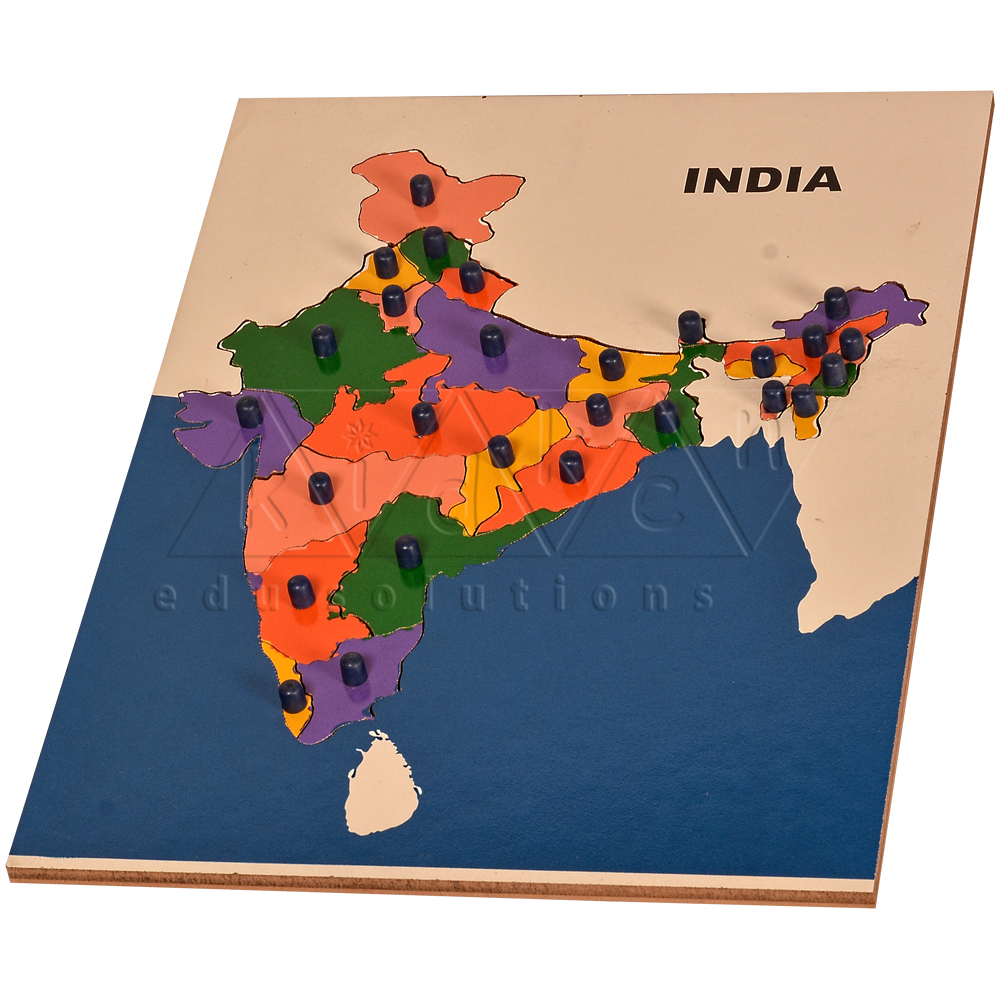 India Map Puzzle.Buy Map Puzzle India Br At Best Price Kidken Edu Solutions
