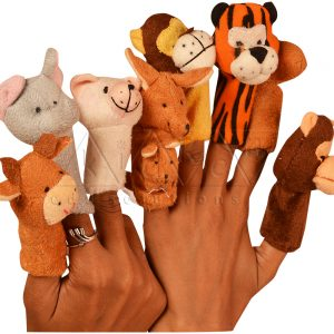 Finger-Puppets-animals-Bunny-Cat-Cow-Elk-Lion-Monkey-Tiger-Kangaroo-Dog-Elephant