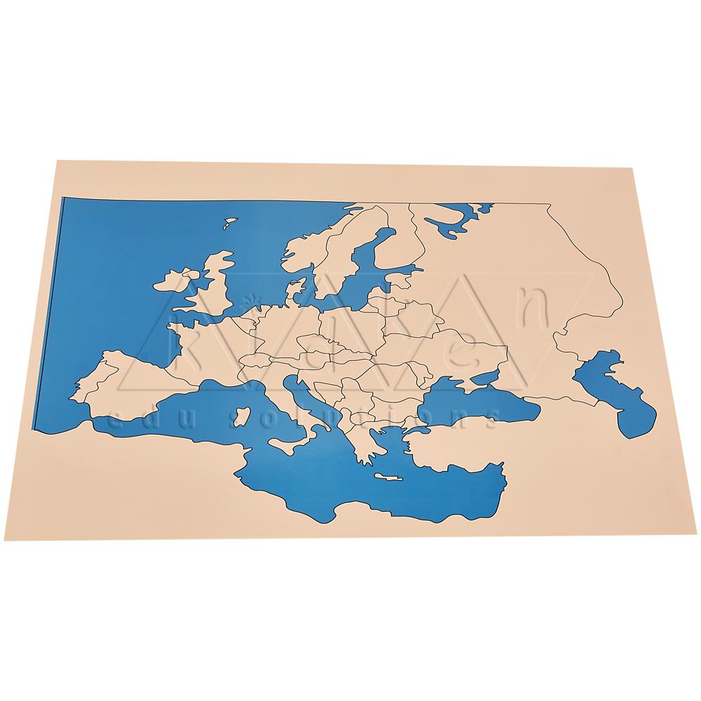 Control Map Europe Unlabeled Kidken Edu Solutions