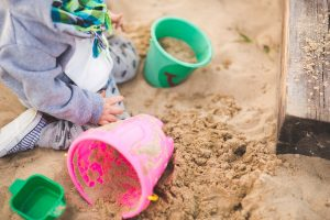 sand-pit outdoor playing