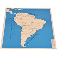 South America Map Labelled | Montessori Learning Aids | Kidken Edu Solutions