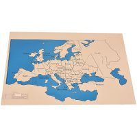 Europe Map Labelled | Montessori Learning Aids | Kidken Edu Solutions