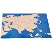 Asia Map Unlabelled | Montessori Learning Aids | Kidken Edu Solutions
