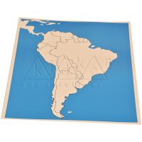 South America Map Unlabelled | Montessori Learning Aids | Kidken Edu Solutions