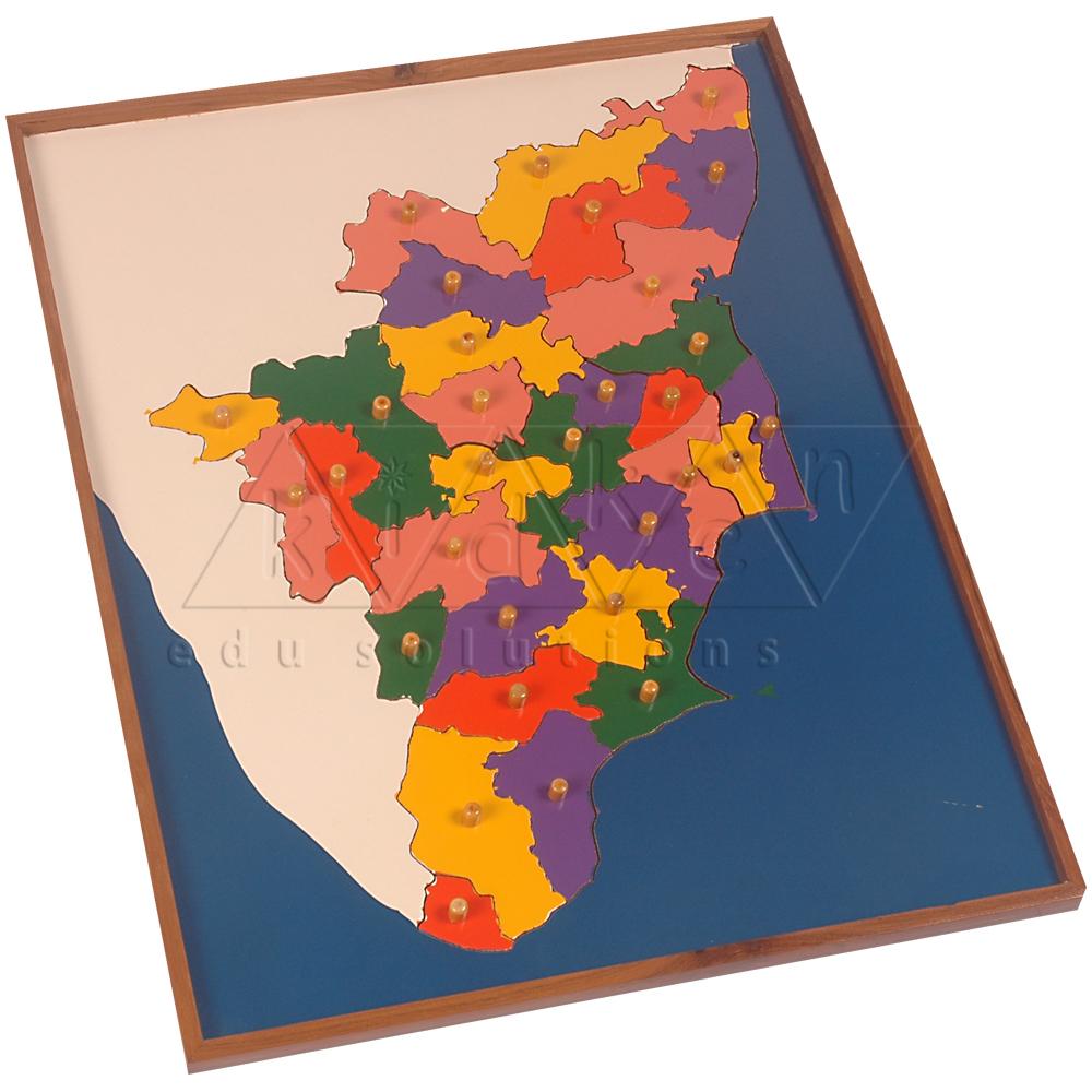 Map Puzzle Tamilnadu Kidken Edu Solutions - Tamilnadu map