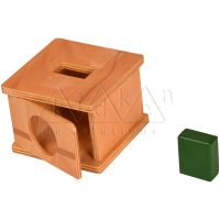 Imbucare Box with Rectangular Prism | Toddler montessori materials | montessori furniture | Kidken Edu Solutions
